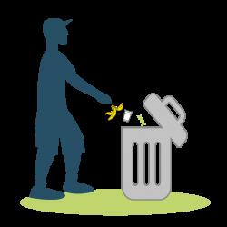 jeter dechet dans poubelle_Plan de travail 1
